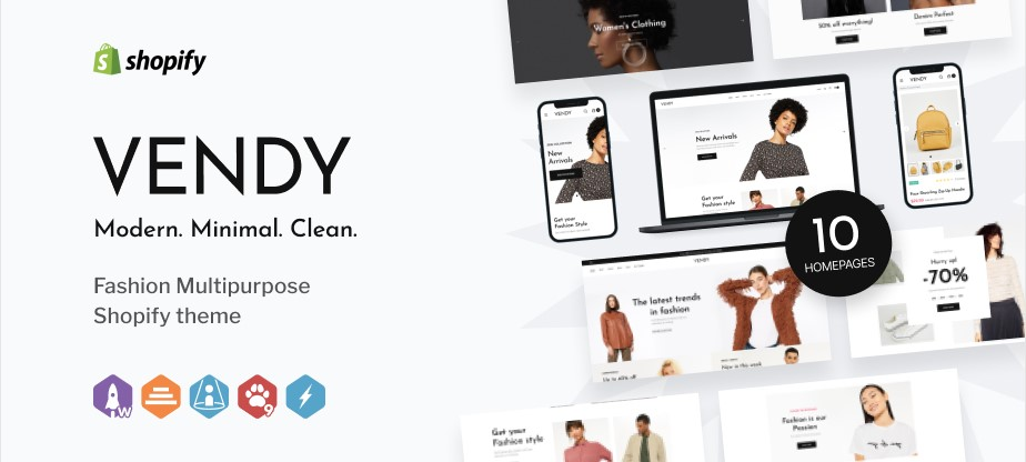 Vendy Fashion Multipurpose Shopify Theme