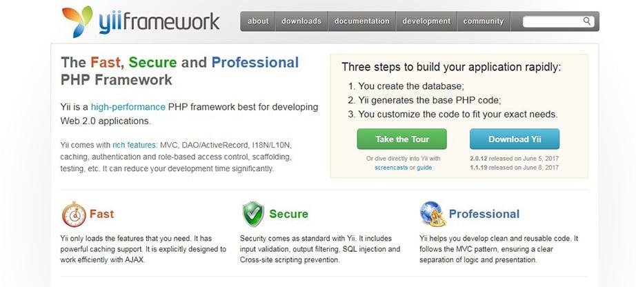 Yii 2 php framework