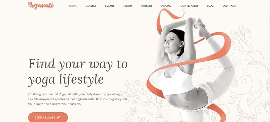 Yoganati Responsive Website Template