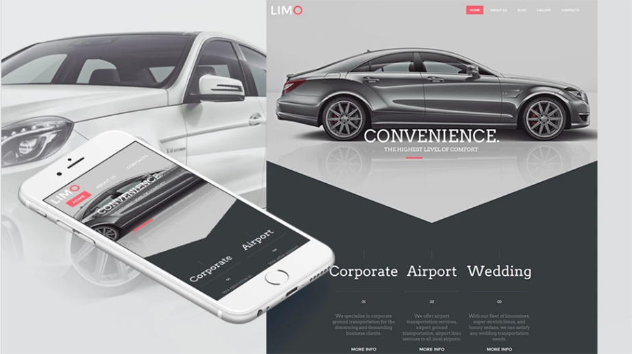 limo services HTML website