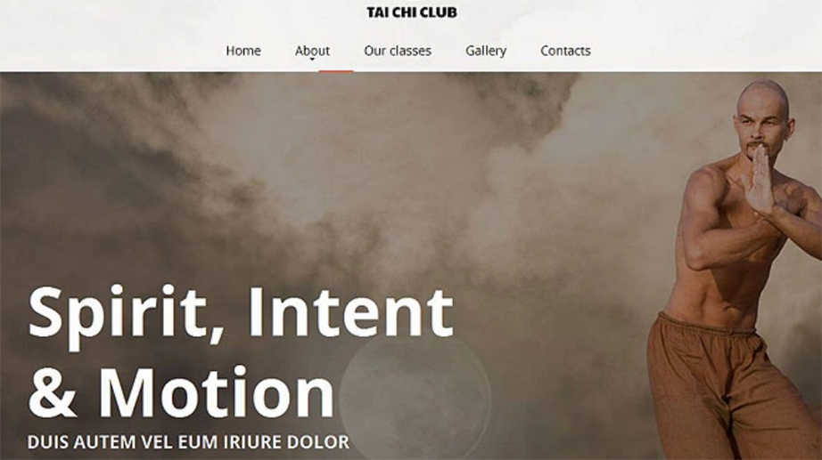 tai chi website template
