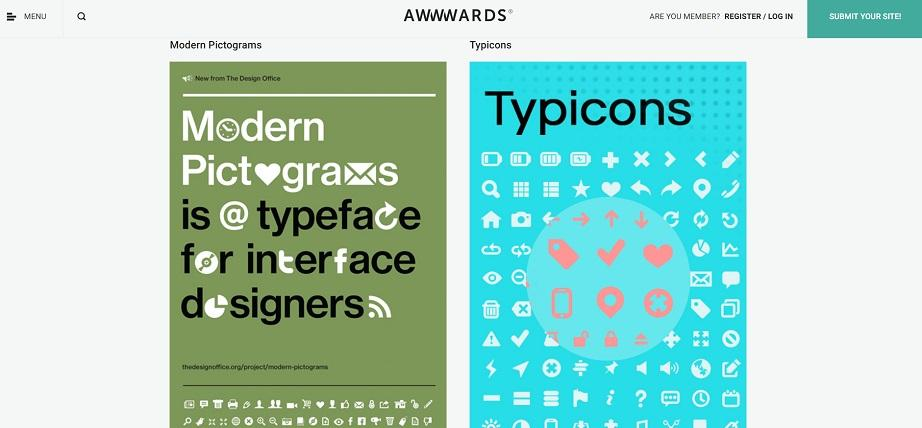 Awwwards free vector