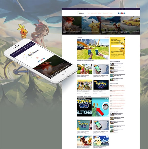 Pokemania Responsive Template