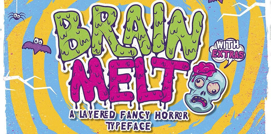 Brain Melt Layered Typeface