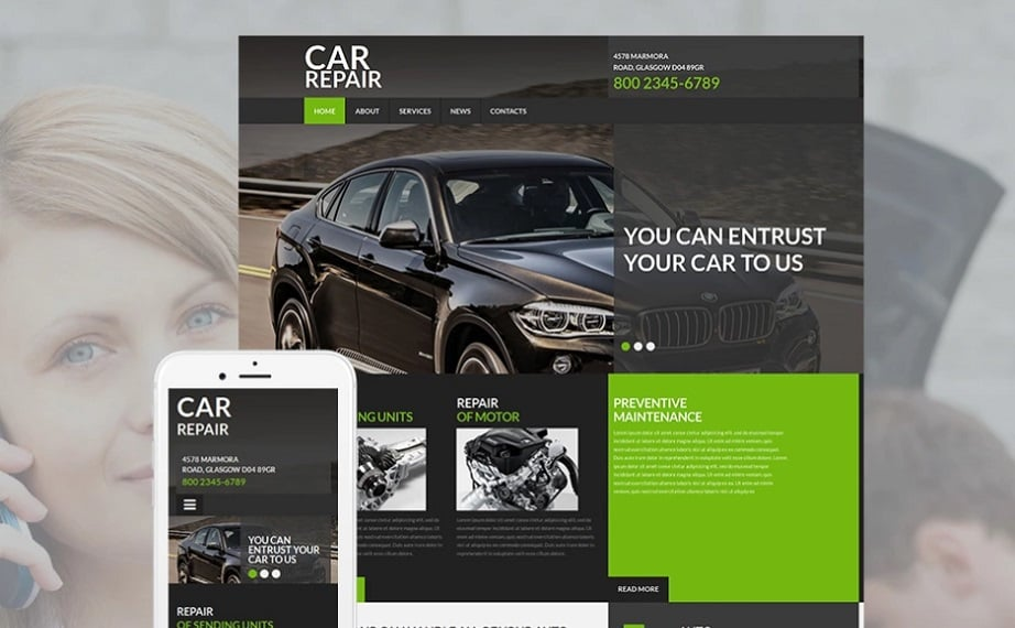 Car repair MotoCMS Templates
