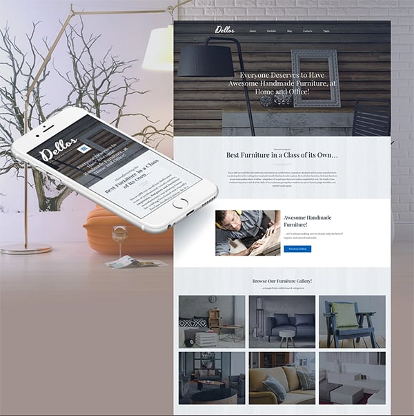 Gray Interior Design Agency Website Template
