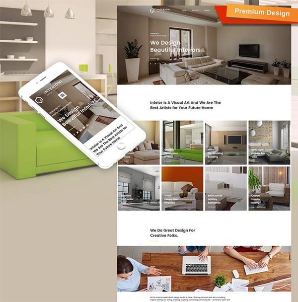 Interioni Responsive Website Template