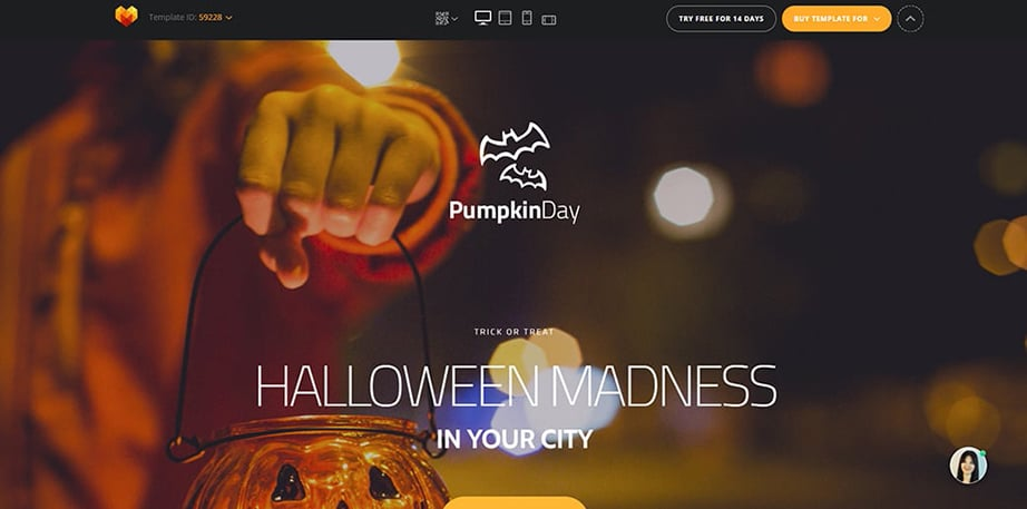 Halloween MotoCMS 3.0 Template