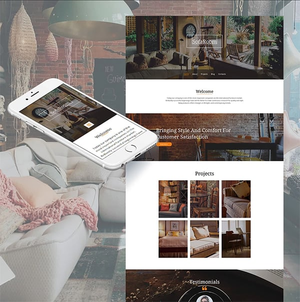 Sofa Room Responsive Website