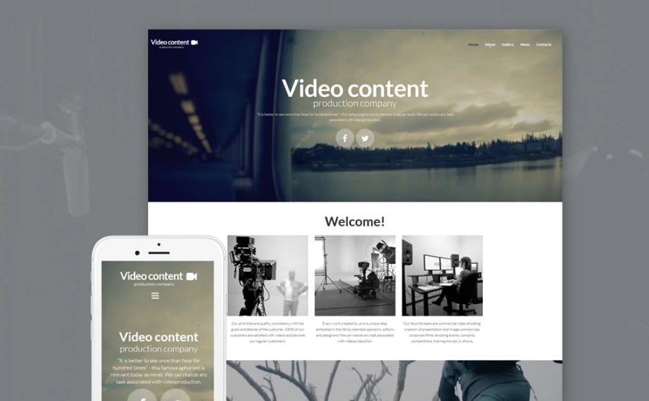 Video Content MotoCMS Templates