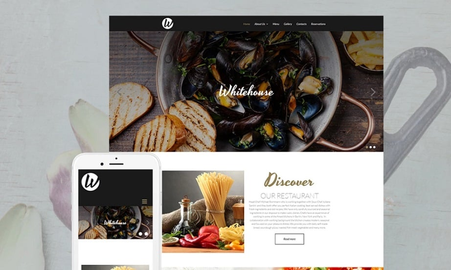 Whitehouse Restaurant MotoCMS Templates