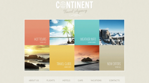 Website Template for Travel Agencies
