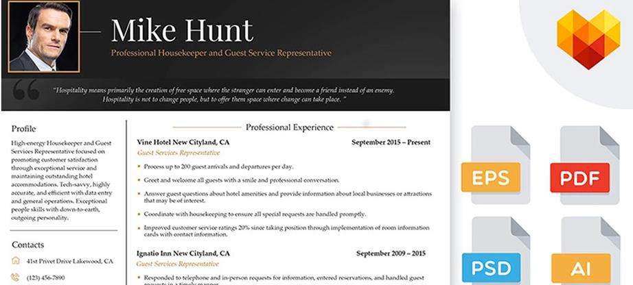 Guest Service Representative Professional Resume Template