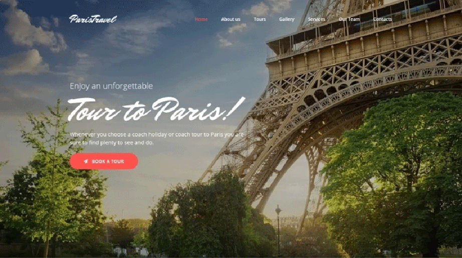 Paris Travel Responsive Website Template