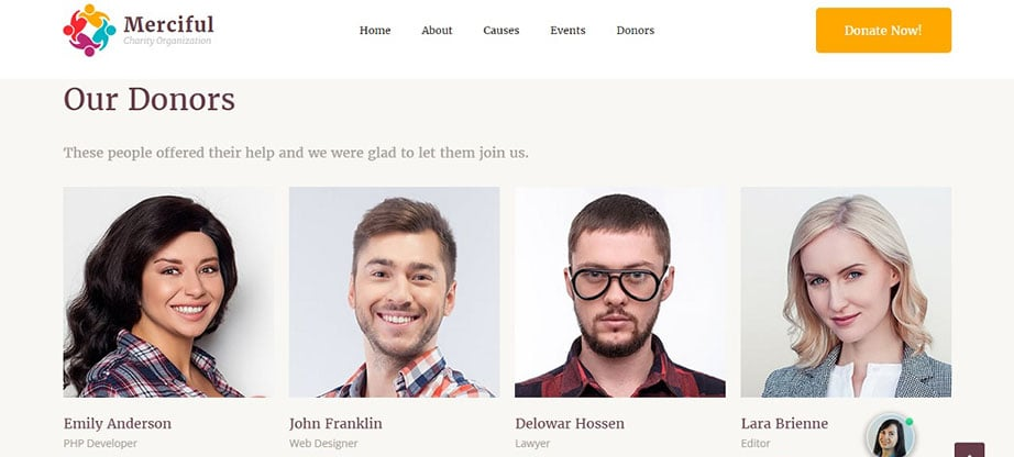 Merciful Responsive Website Template