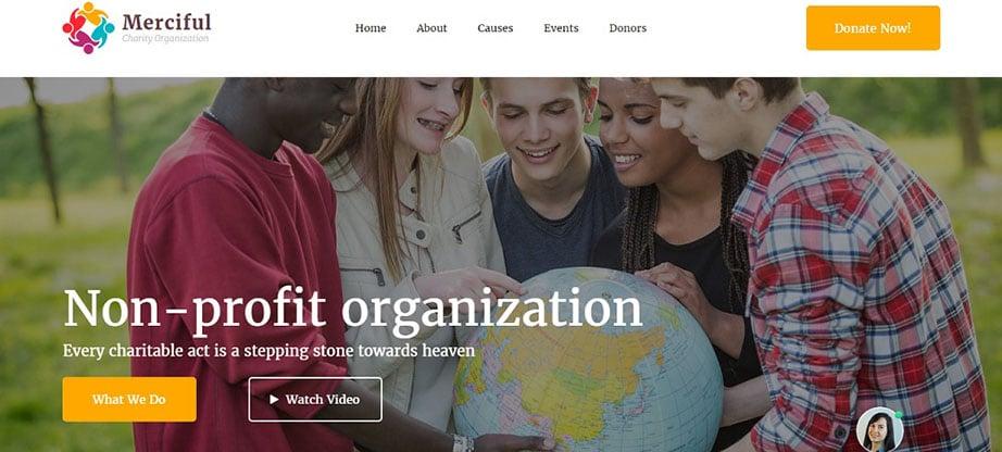 Merciful Responsive Website Template