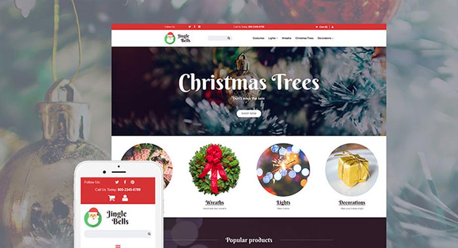 Christmas Responsive MotoCMS Ecommerce christmas templates