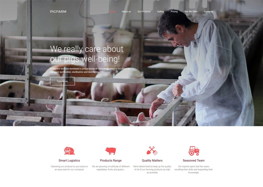 Pig Farm Website Template