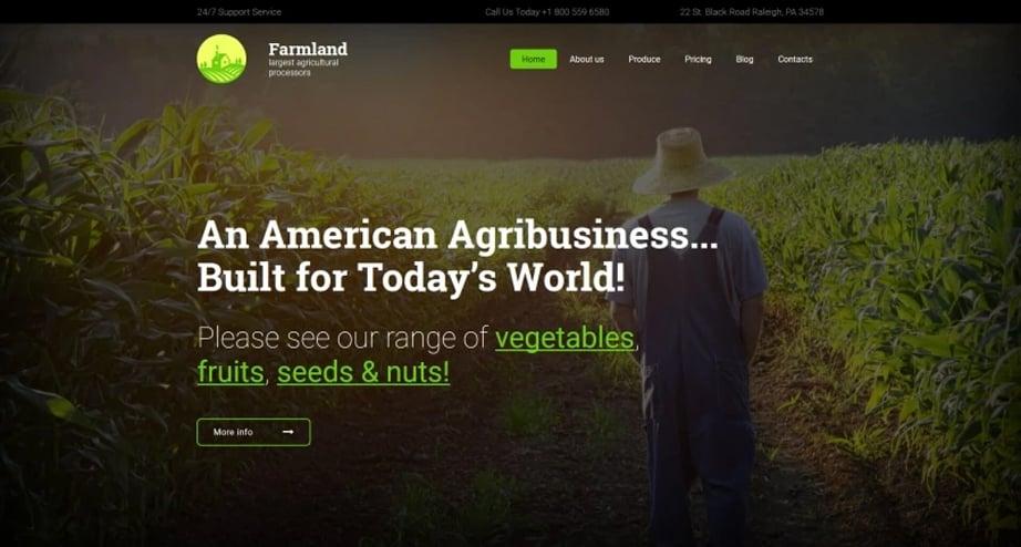 Farmland Website Template