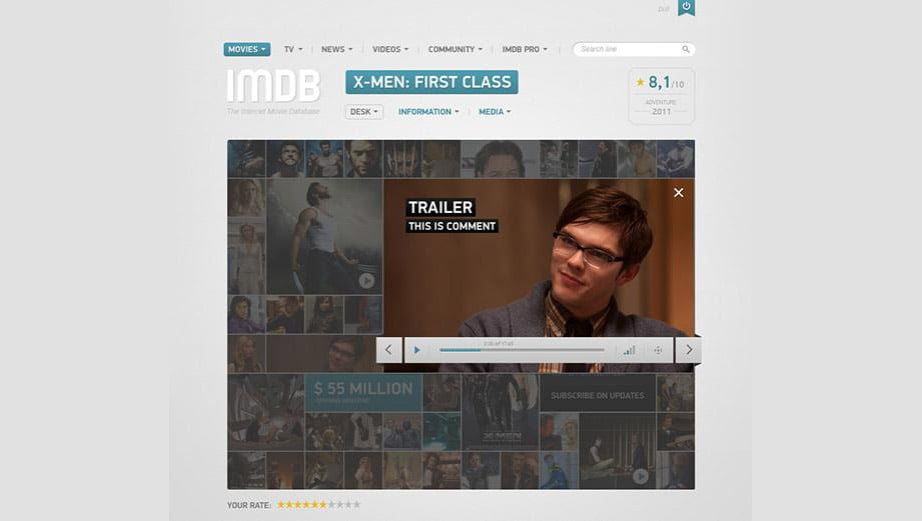 IMDB User Interface Concept