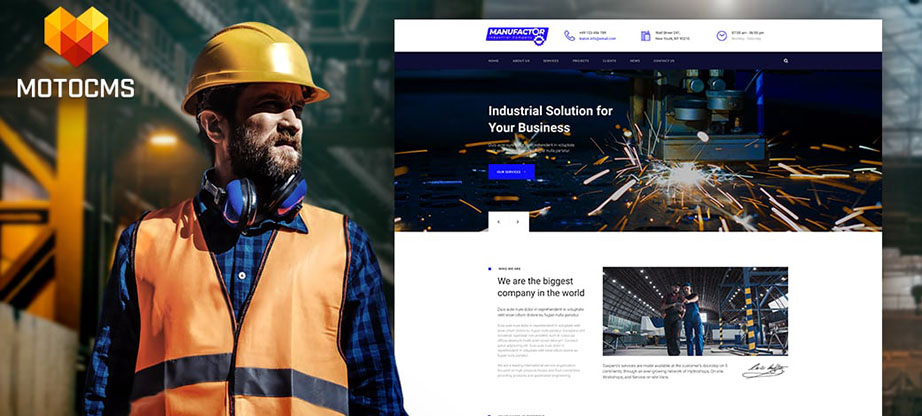ManuFactor Multipurpose Industrial Template main image