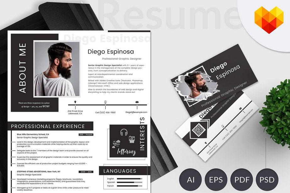resume templates graphic designer image