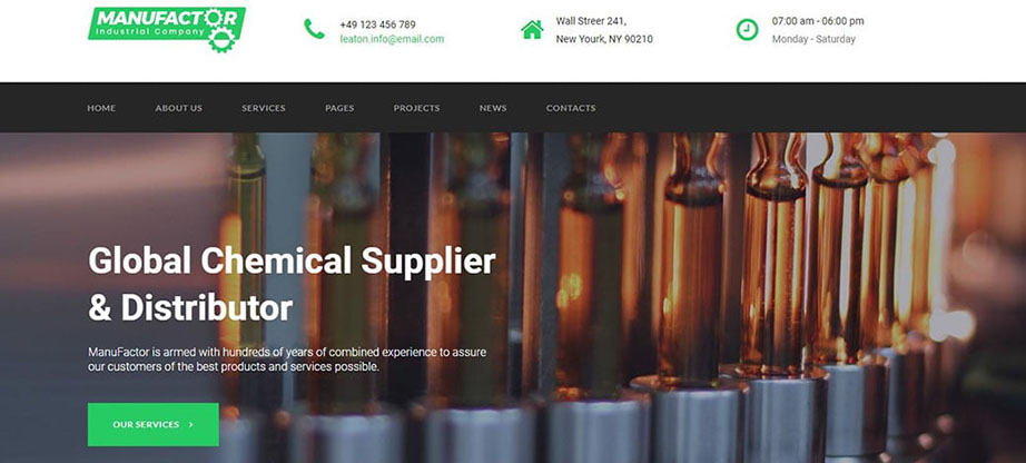 manufactor chemical website