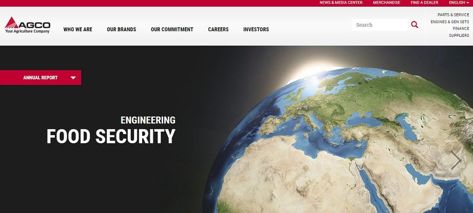 AGCO industrial website