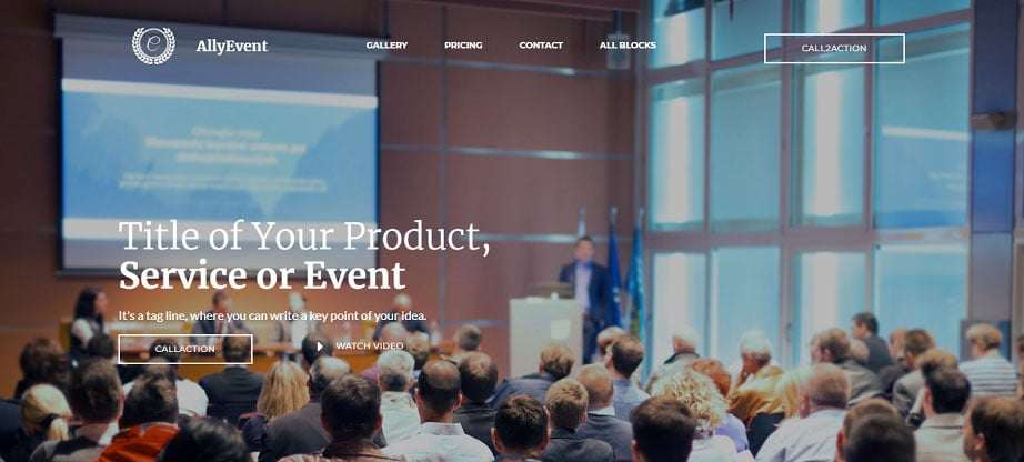 AllyEvent Landing Page Template