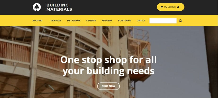 Building Materials Ecommerce Website Template