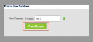 migrate WordPress site create a new database