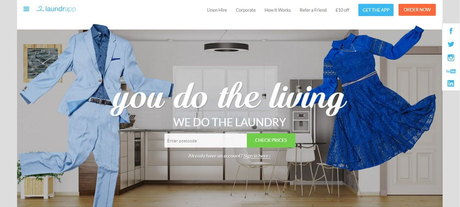 Laundrapp laundry website design