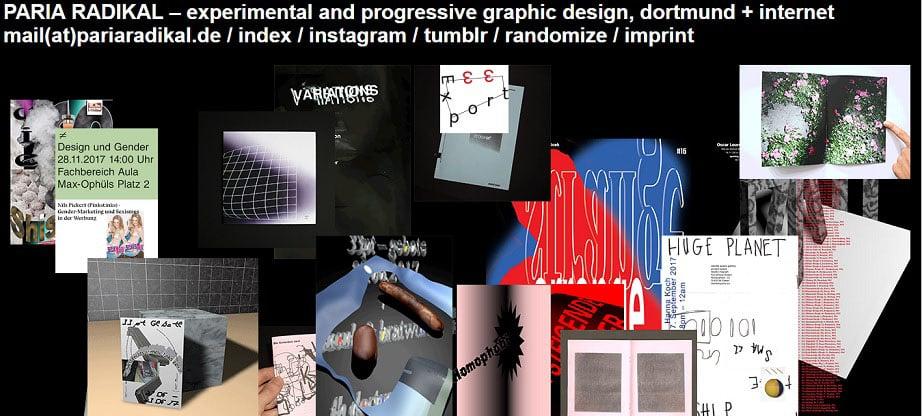 Paria Radikal web design