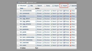migrate WordPress site php my admin