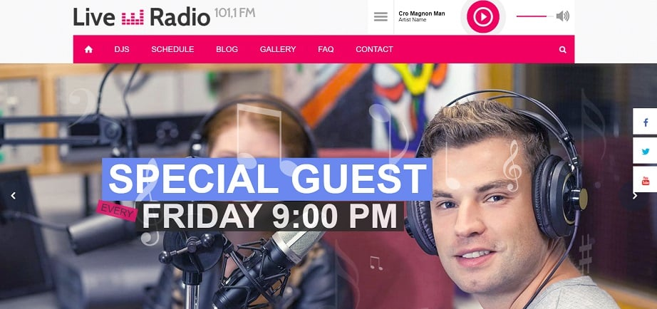 Live Radio Responsive radio website design