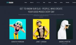 radio website design staff