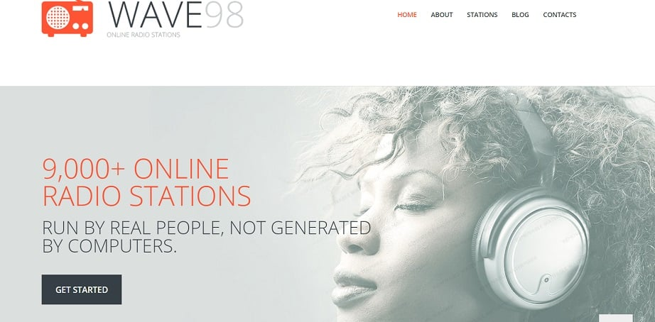 Radio Media Responsive radio website design