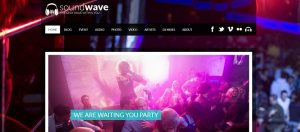 Radio Station Vibe radio website design