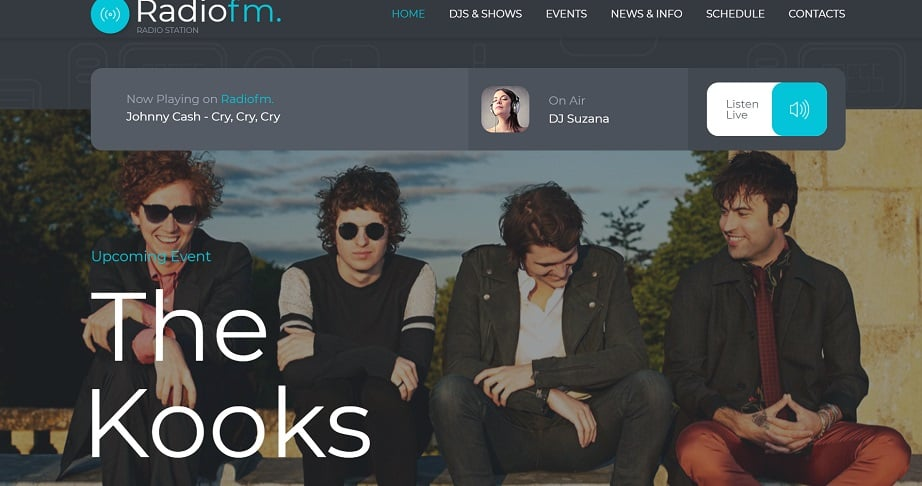 Excellent Radio FM Station radio website design