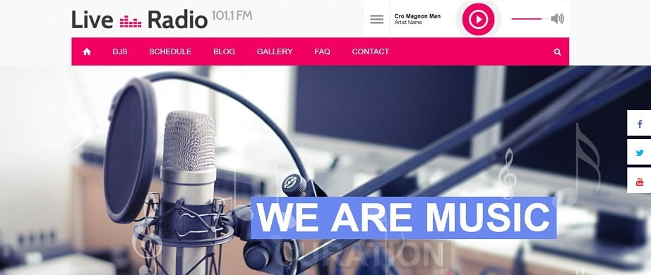radio website design for reserved radio station