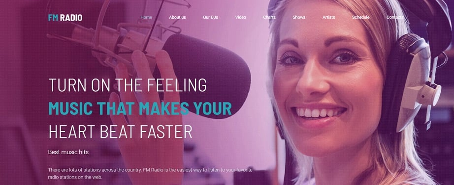 Radio Station Premium radio website design