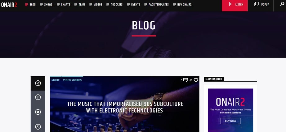 radio website design blog