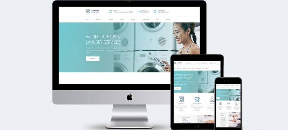Laundris Responsive Website Template
