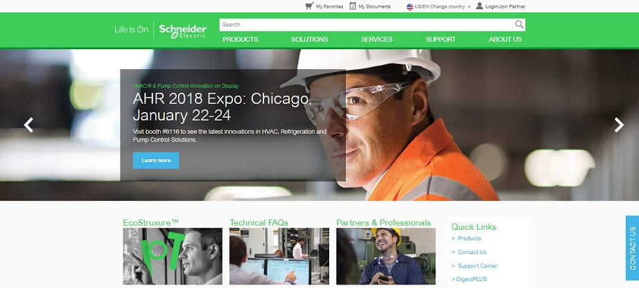 Schneider Electric industrial website
