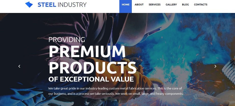 Steel Industry Website Template