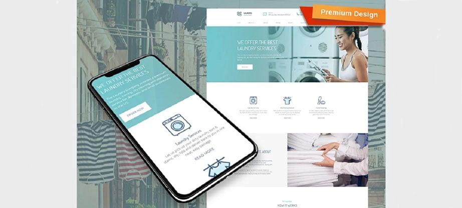 Laundris Responsive Website Template