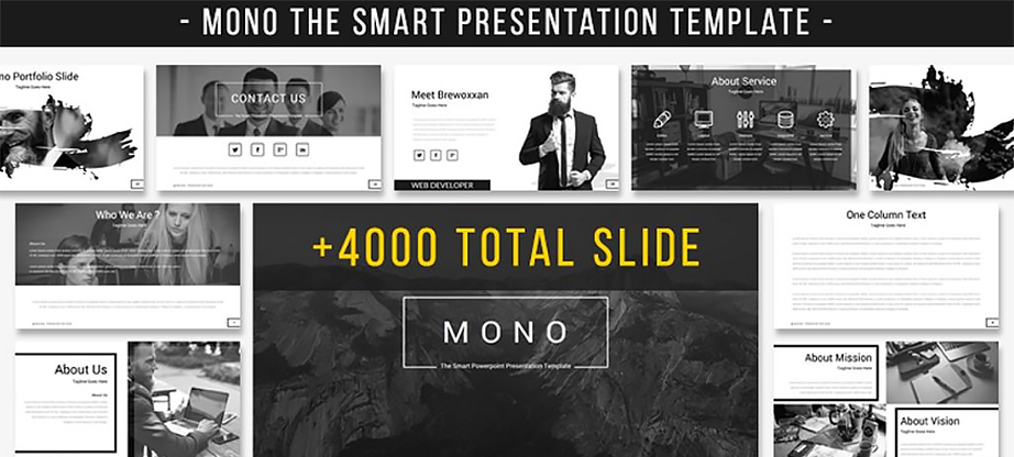 Mono - The Smart Presentation PowerPoint Template