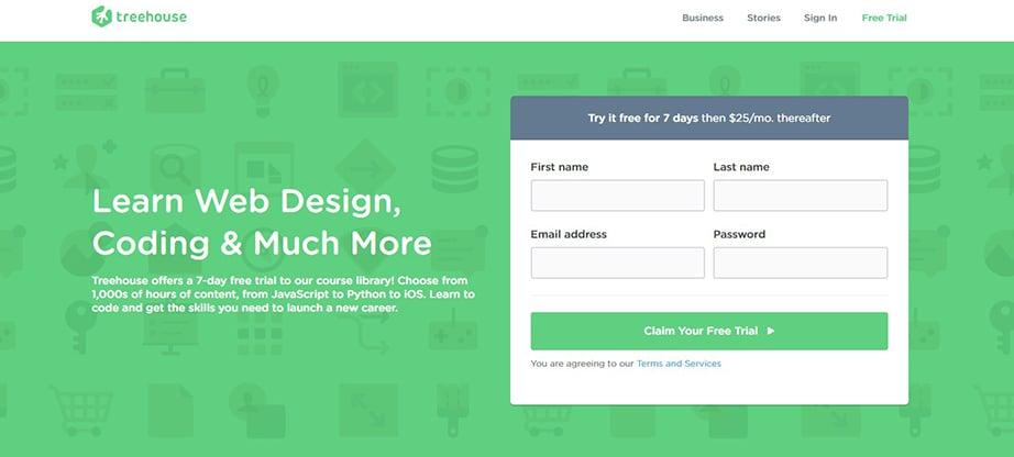 treehouse web designing courses image