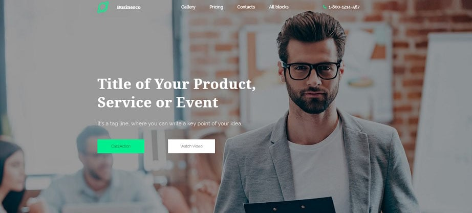Businesco Landing Page Template
