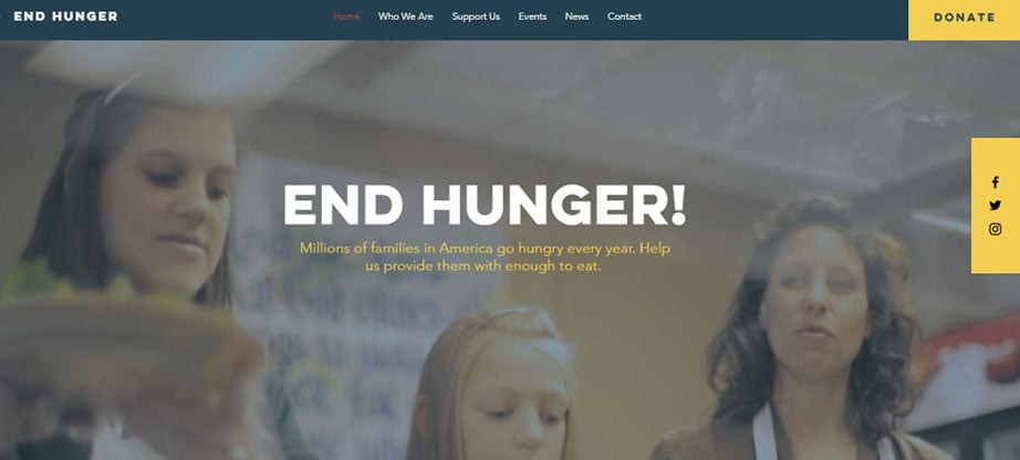 End Hunger Free Wix Theme